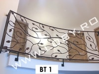 balcon fier forjat model natural