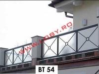 balustrada fier forjat cu policarbonat