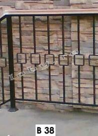 balustrade fier forjat cu patratele 1