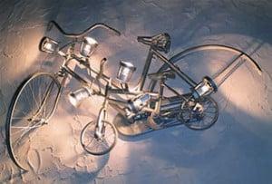 Pangolini fier forjat bicicleta