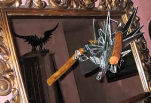 Pangolini fier forjat specchio-con-scure