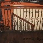 Balustrada cu mana curenta din stejar model sigma
