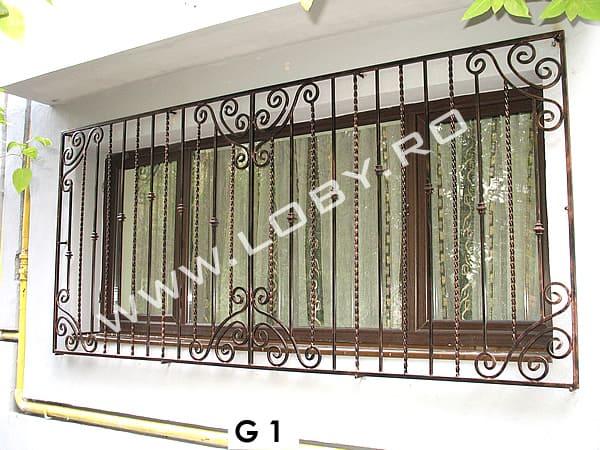 Grilaje fier forjat pentru ferestre mari