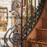Balustrada fier forjat de lux inceput