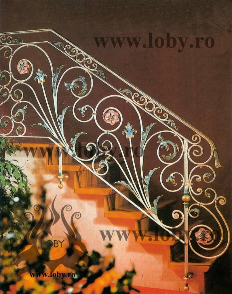 Balustrada model Fier forjat complex inceput