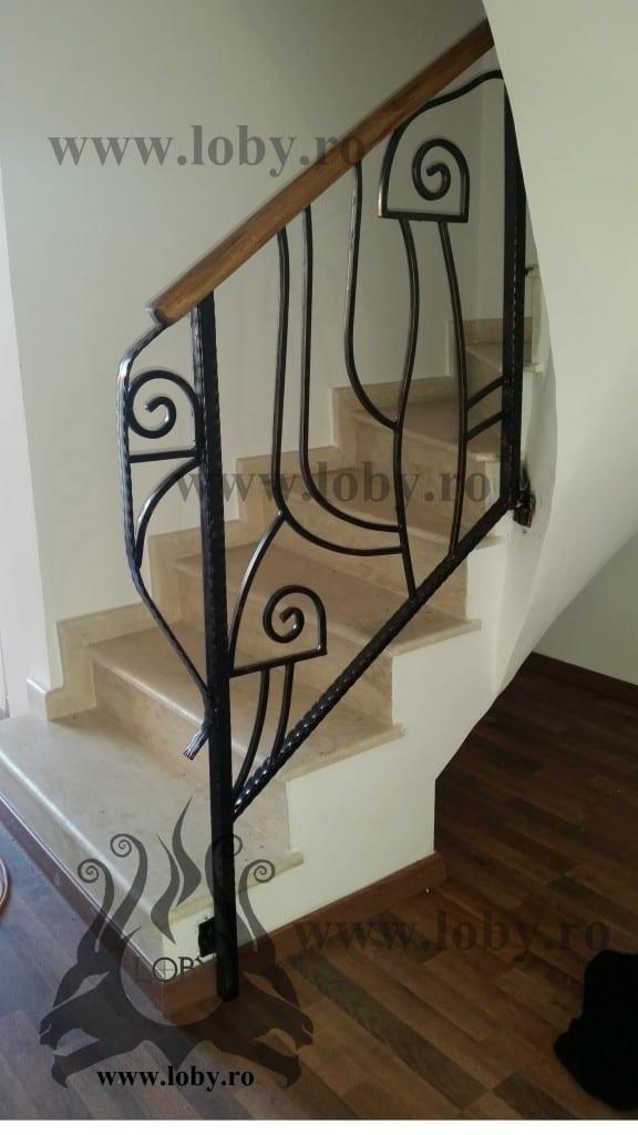 Balustrada model Picasso din fier inceput
