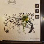 Suport flori fier forjat patru ghivece