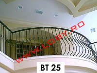 balustrada fier forjat curbata cu bulbi