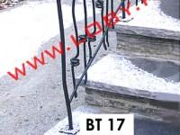 balustrada fier forjat nod