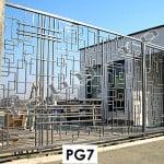 Porti metalice model geometric