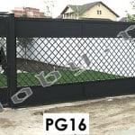 Porti metalice model geometric modern