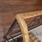 Balustrada cu mana curenta din stejar