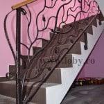 Balustrada scara model natural