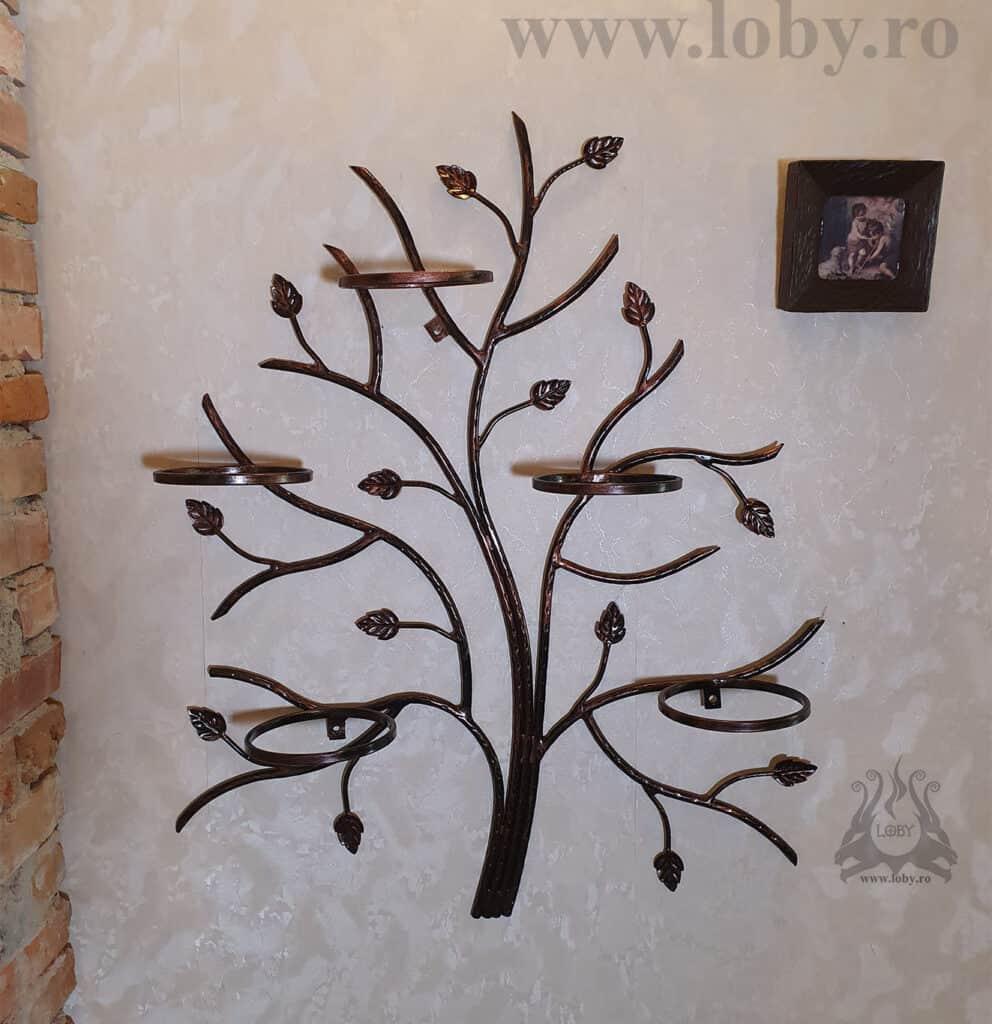 Suport cinci ghivece copacel fara flori