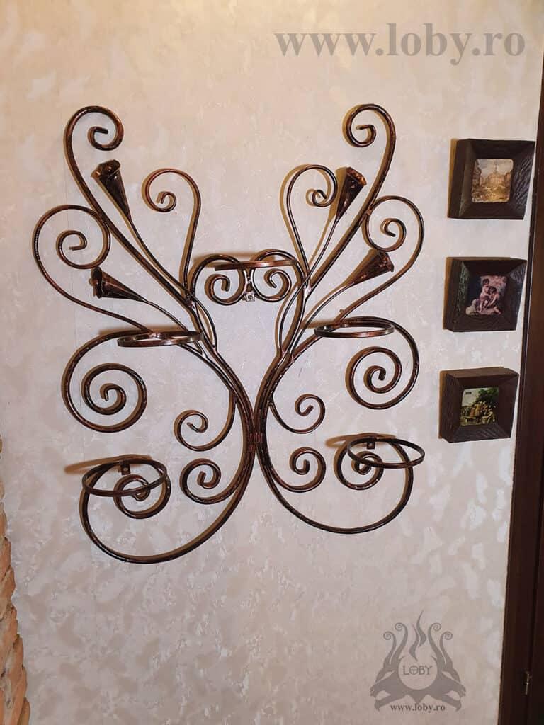 Suport de perete pentru cinci ghivece cu cale fara flori