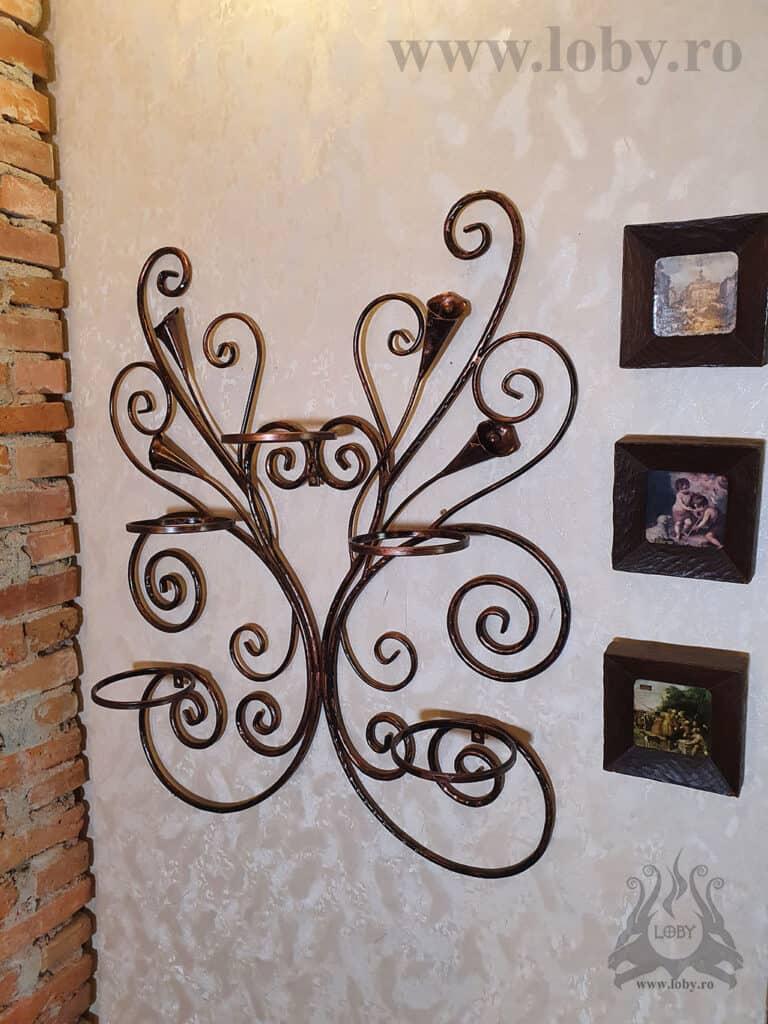 Suport de perete pentru cinci ghivece cu cale fara flori 2